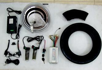 ชุดมอเตอร์ 48V 500W วงล้อแม็กซ์ 10 นิ้ว พร้อมยาง